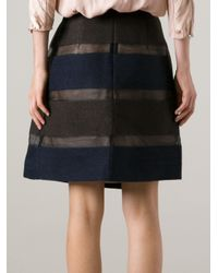 Mantu | Blue Striped Skirt | Lyst