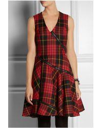 McQ - Red Tartan Wool Dress - Lyst