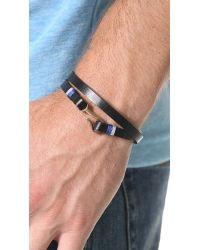 Miansai | Black Foksol Leather Wrap Bracelet for Men | Lyst