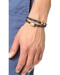 Miansai | Blue Casing Rope Wrap Bracelet for Men | Lyst