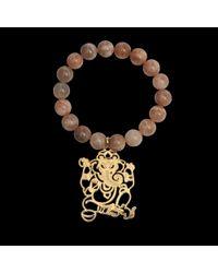 Rita & Zia | Metallic Pink Ganesh Bracelet | Lyst