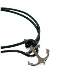 Simon Carter - Black Anchor Bracelet Necklace Gift Set for Men - Lyst