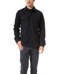 Theory - Blue Vago Overshirt for Men - Lyst