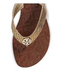 Tory Burch | Thora Metallic Sandal | Lyst