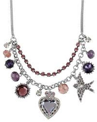 Betsey Johnson - Metallic Iconic Charm Necklace - Lyst