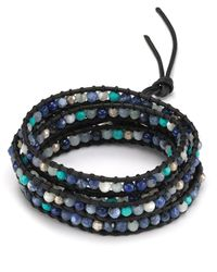 Chan Luu | Five Wrap Blue Mix Leather Bracelet | Lyst