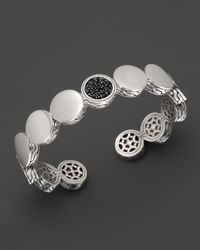 John Hardy | Metallic Dot Silver Lava Single Station Flex Cuff With Black Sapphire | Lyst