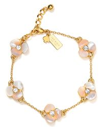 kate spade new york - Metallic Thin Pansy Bracelet - Lyst