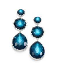 Ippolita - Metallic Peacock Gemstone Doublet and Sterling Silver Earrings - Lyst