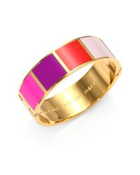 kate spade new york | Multicolor Square Colorblock Enamel Bangle | Lyst