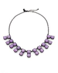 kate spade new york | Purple Faceted Double Stone Necklace | Lyst