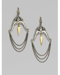 Stephen Webster - Metallic Sterling Silver Shark Jaw Chain Earrings - Lyst