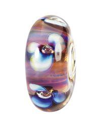 Trollbeads - Purple Aurora Flowers Glass Bead - Lyst