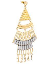 ASOS - Metallic Modern Number Chandelier Earrings - Lyst