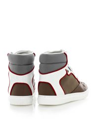 Balenciaga - Green Multipanel Neoprene and Leather Trainers - Lyst