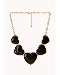 Forever 21 - Metallic Crazy Heart Bib Necklace - Lyst