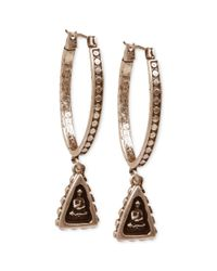 Lucky Brand - Metallic Goldtone Small Shrine Hoop Earrings - Lyst