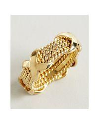 Tiffany & Co. - Metallic Jean Schlumberger Gold Four Row Rope Band Estate Ring - Lyst