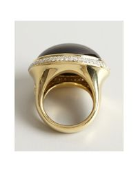 David Yurman - Metallic Black Onyx and Diamond Signature Oval Ring - Lyst
