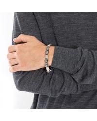 Simon Carter | Gray Skull Beaded Bracelet for Men | Lyst