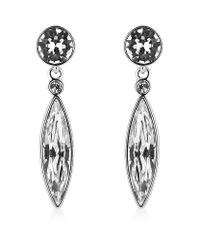 Swarovski | Metallic Ivory Drop Earrings | Lyst