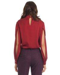 Trina Turk | Red Stand Top | Lyst