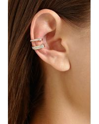 Anita Ko - Metallic 18-Karat Rose Gold Diamond Ear Cuff - Lyst