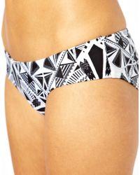 The Hundreds - Black Asos Rossetti Print Deep Hipster Bikini Pant - Lyst