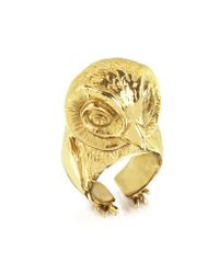 Bernard Delettrez | Metallic Bronze Big Owl Ring | Lyst