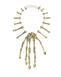 Bernard Delettrez | Metallic Bronze Skeleton Hand Necklace | Lyst