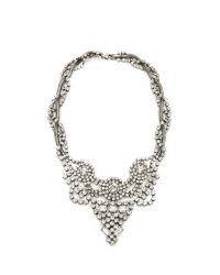 DANNIJO - Metallic Vala Clear Crystal Necklace Clear - Lyst