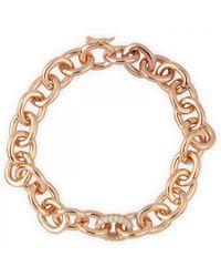 Eddie Borgo - Pink Chain Link Bracelet - Lyst