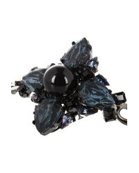 Erdem - Blue Rutheniumplated Swarovski Crystal Bracelet - Lyst