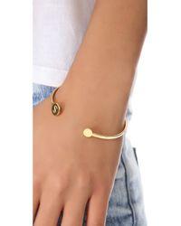 Gorjana | Metallic Alphabet Disc Cuff Bracelet | Lyst