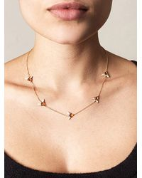 Kiki McDonough | Yellow Citrine and Diamond Bee Necklace | Lyst