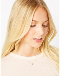 Dogeared - Metallic Laura Lee Diamond Set Star Necklace - Lyst