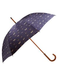 London Undercover - Blue Navy Agi and Sam Dog Print Umbrella - Lyst