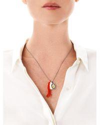 Mathias Chaize - Red Tassel Pendant Necklace - Lyst