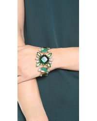 Noir Jewelry - Green Gem Bracelet - Lyst