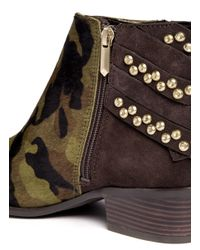 Sam Edelman - Multicolor Penrose Camouflage And Stud Boots - Lyst