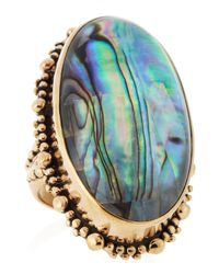 Stephen Dweck | Blue Rock Crystal Abalone Ring | Lyst