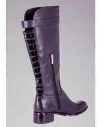 Bebe - Purple Shasta Flat Riding Boots - Lyst