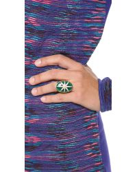 Elizabeth and James - Green Northern Star Large Cabochon Ring - Lyst