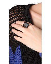 Elizabeth and James - Black Bird Claw Ring with Onyx - Lyst