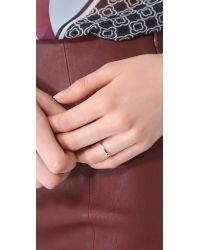 Gabriela Artigas - Metallic Single Black Diamond Ring - Rose Gold/Black - Lyst