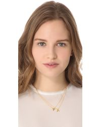 Gorjana - Metallic Alphabet Necklace - M - Lyst