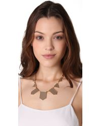 House of Harlow 1960 - Natural Station Leather Necklace - Lyst