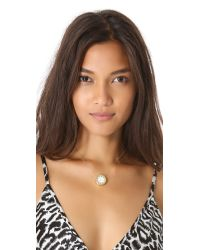 House of Harlow 1960 - Mini Sunburst Necklace White Stingray - Lyst