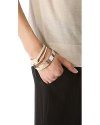 Marc By Marc Jacobs - Natural Skinny Engraved Turnlock Leather Bracelet - Lyst