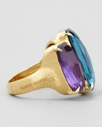 Marco Bicego - Blue Murano 18k Large Three-stone Ring - Lyst